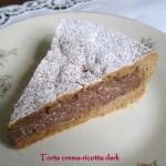 Torta crema-ricotta dark… versione figlia!!