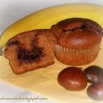Muffins alla banana con farina di castagne e nutella