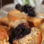 Muffins rustici con cuore di confettura. O' sarracen…il fitness muffin!