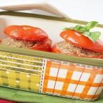 Pomodori ripieni tonno e cannellini. Something Red: E se fosse salato?