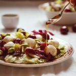 Something Red: insalata con ciliegie, mozzarella e noci pecan. Coming to the end!