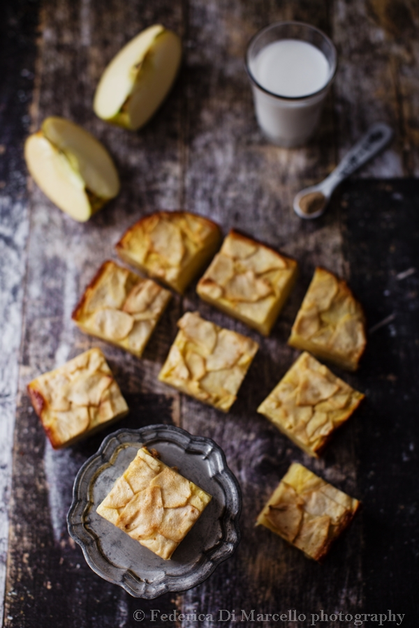 Delicious and light apple cake, called invisible because apple slices are so thin and cooked in so little dough, they blend together to virtually disappear.