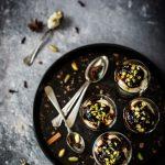 Bicchierini crumble al pistacchio e fichi caramellati {gluten free}…in love with #BABBI
