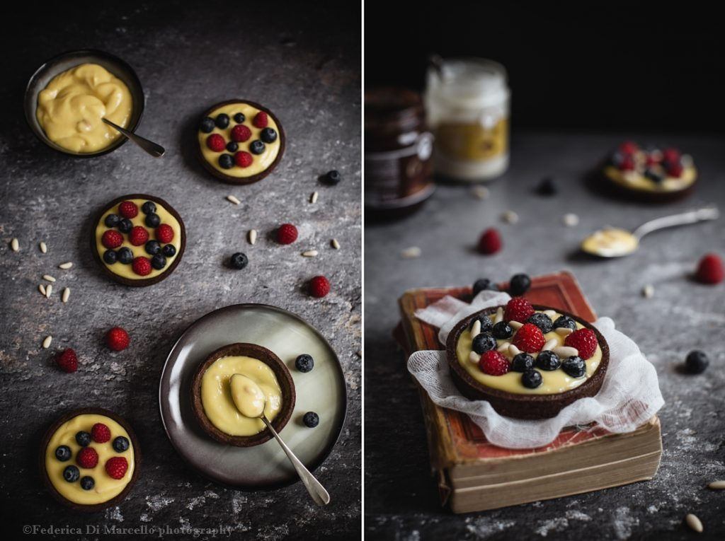 berry and pine nut tartlets collage 2