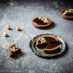 Crostatine al cioccolato con frolla all'olio…..