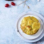Millefoglie di patate con pesto, feta e pomodorini. Ma che davvero?